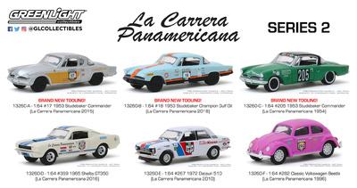 Lote 6 unidades de la Carrera Panamericana Series 2 Greenlight 1/64
