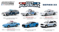 Lote de 6 unidades Hot Pursuit Series 33 Greenlight 1/64