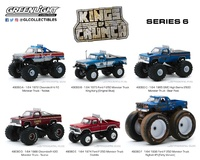 Lote de 6 unidades Kings of Crunch Series 6 Greenlight 1/64
