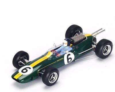 """Lotus 25 """"1º GP. Francia"""" nº 6 Jim Clark (1965) Spark 1:18"""
