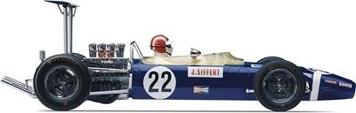 """Lotus 49B """"GP. Gran Bretaña"""" nº 22 Jo Siffert (1968) Exoto 1/18"""