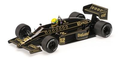 Lotus 98T nº 12 Ayrton Senna (1986) Minichamps 1/18
