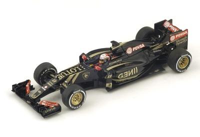 """Lotus E23 """"GP. Malasia"""" nº 8 Romain Grosjean (2015) Spark 1:43"""
