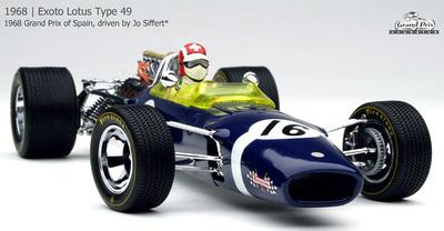 "Lotus F49 ""GP. España"" nº 16 Jo Siffert (1968) Exoto 1/18"