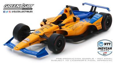 McLaren Indycar nº 66 Fernando Alonso (2019) Greenlight 1/18