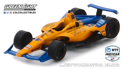 McLaren Indycar nº 66 Fernando Alonso (2019) Greenlight 1/64