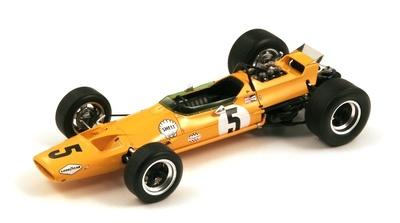 """McLaren M7A """"1º GP Bélgica""""nº 5 Bruce Mclaren (1968) Spark 1:18"""