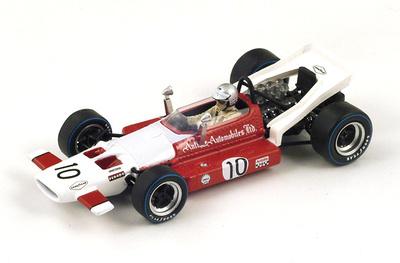 """McLaren M7B """"5º GP. Francia"""" nº 10 Vic Elford (1969) Spark 1:43"""