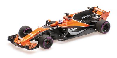 """McLaren MCL32 """"GP. Mónaco"""" nº 22 Jenson Button (2017) Minichamps 1:43"""