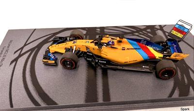 """McLaren MCL33 """"GP. Abu Dhabi"""" nº 14 Fernando Alonso  """"última carrera"""" (2018) Spark 1/43"""