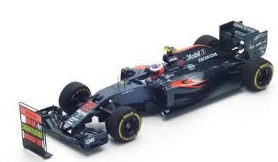 "McLaren MP4-31 ""GP. Malasia"" nº 22 Jenson Button (con pitboard) (2016) Spark 1/43"