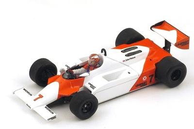 """McLaren MP4/1 n°7 1º """"GP. Gran Bretaña"""" nº 7 John Watson (1981) Spark 1:43"""