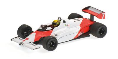 "McLaren MP4/1C ""Test Silverston"" nº 7 Ayrton Senna (1983) Minichamps 1:43"