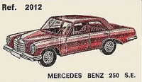 Mercedes Benz 250 SE Nacoral 1/43