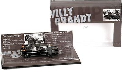"""Mercedes Benz 300 SEL 6.3 """"Willy Brandt"""" -W109- (1970) Minichamps 1/43"""