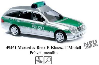 Mercedes-Benz Clase E T-Modell Policía -W211- (2002) Busch 1/87