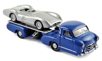 Mercedes Benz Racing Transporter + W196 (1955) Norev 1/64