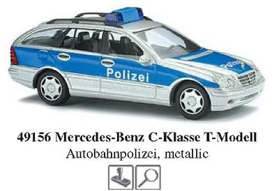 """Mercedes Clase C -W203- T-Modell Policía """"Autopista"""" Busch 1/87"""