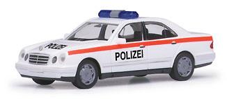 """Mercedes Clase E 200 """"Police department Österreich"""" -W210- (1995) Herpa 1/87"""