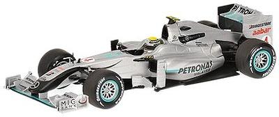 """Mercedes GP """"Showcar"""" nº 4 Nico Rosberg (2010) Minichamps 1/43"""