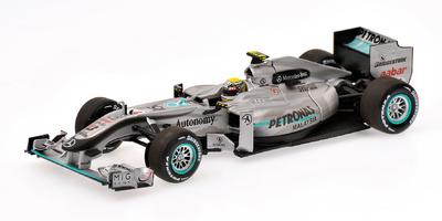 Mercedes MGP W01 nº 4 Nico Rosberg (2010) Minichamps 1/43