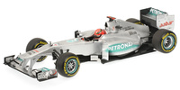 "Mercedes MGP W03 ""ShowCar"" nº 7 Michael Schumacher (2012) Minichamps 1/18"