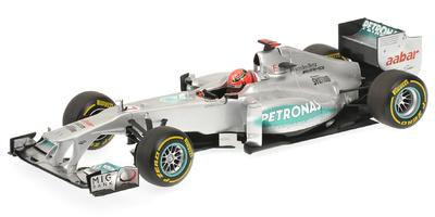 "Mercedes MGP W03 ""ShowCar"" nº 7 Michael Schumacher (2012) Minichamps 1/18"