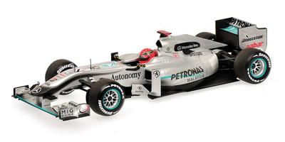Mercedes W01 nº 3 Michael Schumacher (2010) Minichamps 1/18