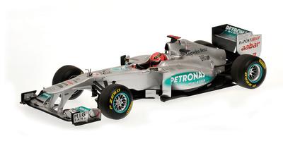 Mercedes W02 nº 7 Michael Schumacher (2011) Minichamps 1/18 (descatalogado)