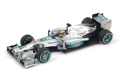 """Mercedes W04 """"1º GP. Inglaterra"""" nº 9 Nico Rosberg (2013) Spark 1:43"""