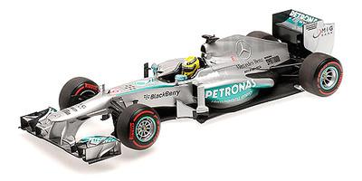 """Mercedes W04 """"GP. Mónaco"""" nº 9 Nico Rosberg  (2013) Minichamps 1:18"""