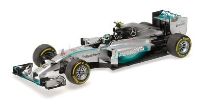 """Mercedes W05 """"GP. Abu Dhabi"""" nº 6 Nico Rosberg (2014) Minichamps 1:18"""