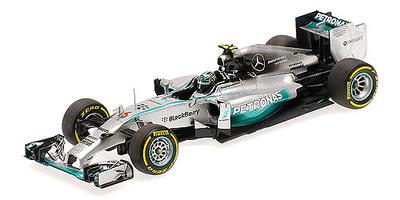 """Mercedes W05 """"GP. Abu Dhabi"""" nº 6 Nico Rosberg (2014) Minichamps 1:43"""