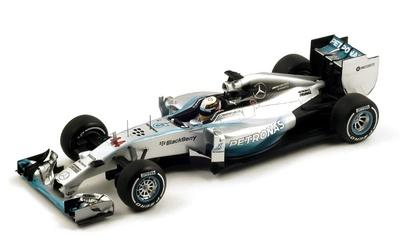 "Mercedes W05 ""GP. Gran Bretaña"" nº 44 Lewis Hamilton (2014) Spark 1:18"