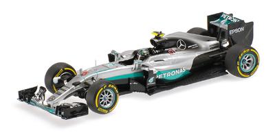 """Mercedes W07 """"1º GP. Bahrein"""" nº 6 Nico Rosberg (2016) Minichamps 1:43"""