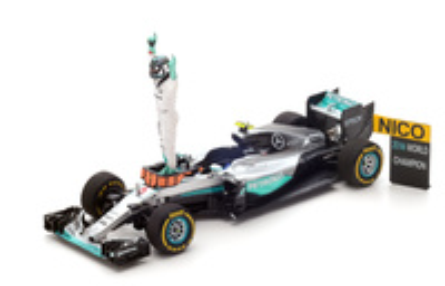 "Mercedes W07 ""GP. Abu Dhabi"" Nico Rosberg (2016) Spark 1:43"