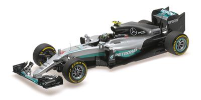 """Mercedes W07 """"GP. Abu Dhabi"""" nº 6 Nico Rosberg (2016) Minichamps 1:18"""