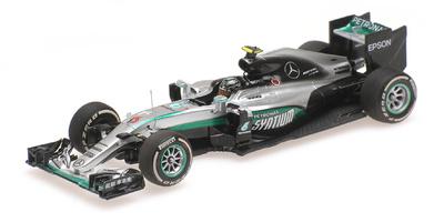 """Mercedes W07 """"GP. China"""" nº 6 Nico Rosberg (2016) Minichamps 1:43"""
