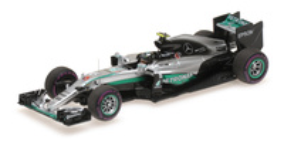 """Mercedes W07 """"GP. Mónaco""""nº 6 Nico Rosberg (2016) Minichamps 1:43"""