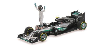 Mercedes W07 nº 6 Nico Rorberg con figura (2016) Minichamps 1:43