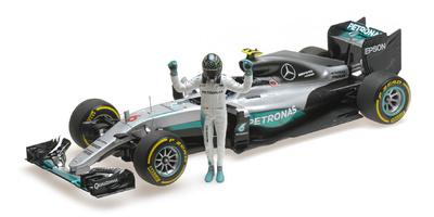 Mercedes W07 nº 6 Nico Rosberg con figura (2016) Minichamps 1:18