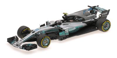 """Mercedes W08 """"GP. España"""" nº 77 Valtteri Bottas (2017) Minichamps 1:43"""