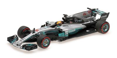 """Mercedes W08 """"GP. México"""" nº 44 Lewis Hamilton (2017) Minichamps 1:43"""