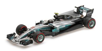 """Mercedes W08 """"GP. Rusia"""" nº 77 Valtteri Bottas (2017) Minichamps 1:43"""
