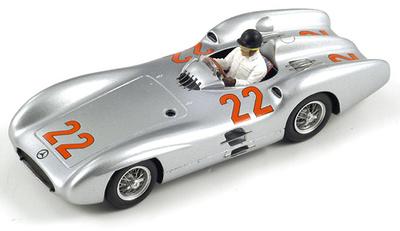 """Mercedes W196 """"GP Francia"""" nº 22 Hans Herrmann (1954) Spark 1/43"""