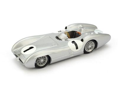 """Mercedes W196C """"4º GP. Gran Bretaña"""" nº 1 Juan Manuel Fangio (1954) Brumm 1/43"""