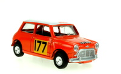 "Mini Cooper ""1º Rally Monte Carlo"" nº 177 (1967) Norev 1/64 (1/54)"