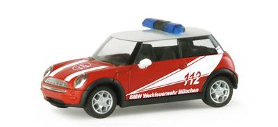 "Mini Cooper ""BMW Plant Fire Department"" Herpa 1/87"