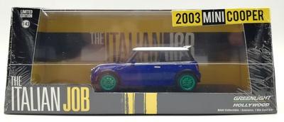"Mini Cooper S ""The Italian Job"" (2003) Green Machine 1/43"