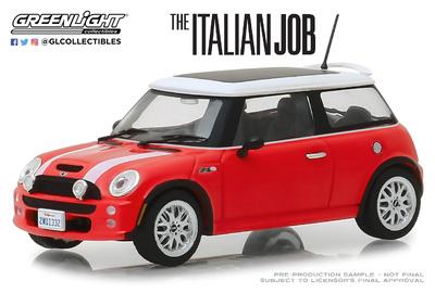 "Mini Cooper S ""The Italian Job"" (2003) Greenlight 1/43"